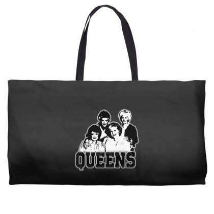 The Queens Weekender Totes Designed By Pinkanzee