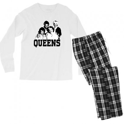 The Queens Men's Long Sleeve Pajama Set Designed By Pinkanzee
