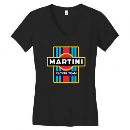 Martini Racing Team Women's V-neck T-shirt Designed By Pinkanzee
