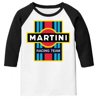 Martini Racing Team Youth 3/4 Sleeve Designed By Pinkanzee