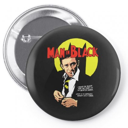 Man In Black Pin-back Button Designed By Pinkanzee