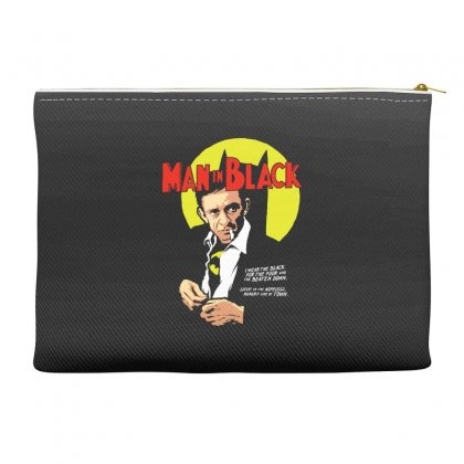 Man In Black Accessory Pouches Designed By Pinkanzee