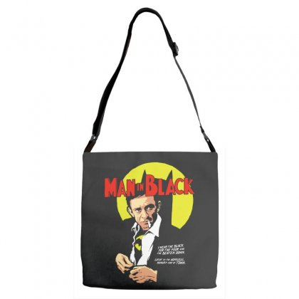 Man In Black Adjustable Strap Totes Designed By Pinkanzee