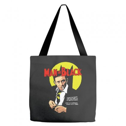 Man In Black Tote Bags Designed By Pinkanzee