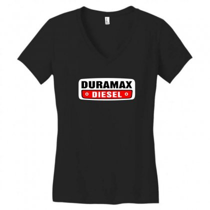 Duramax Diesel Women's V-neck T-shirt Designed By Pinkanzee