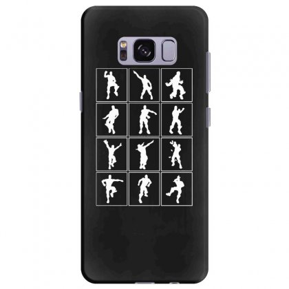Funny Fortnite Emotes   White Samsung Galaxy S8 Plus Case Designed By Pinkanzee