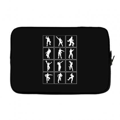 Funny Fortnite Emotes   White Laptop Sleeve Designed By Pinkanzee