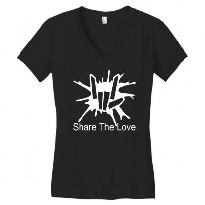 Share The Love Women's V-neck T-shirt Designed By Satrio Art