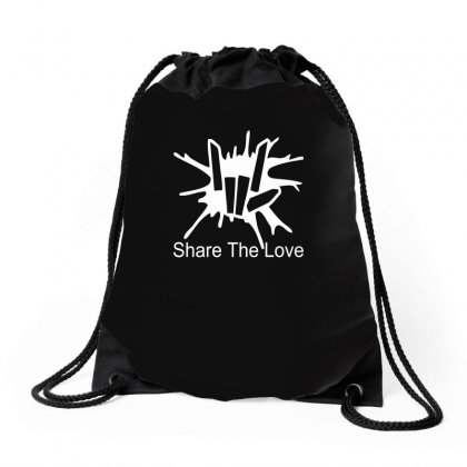 Share The Love Drawstring Bags Designed By Satrio Art
