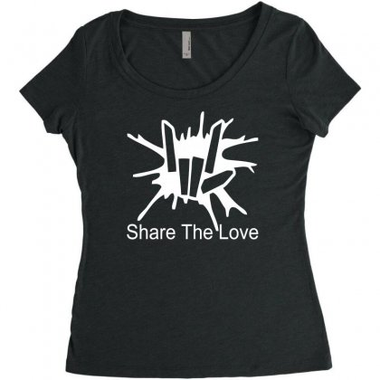 Share The Love Women's Triblend Scoop T-shirt Designed By Satrio Art