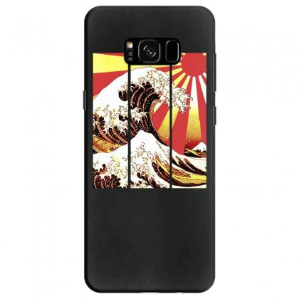 Surf In Japan (the Great Wave Off Kanagawa) Samsung Galaxy S8 Case Designed By Aheupote