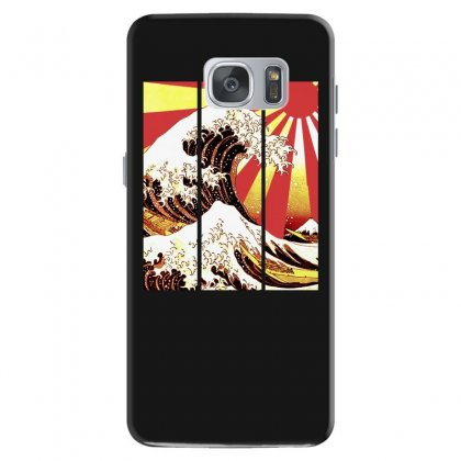 Surf In Japan (the Great Wave Off Kanagawa) Samsung Galaxy S7 Case Designed By Aheupote