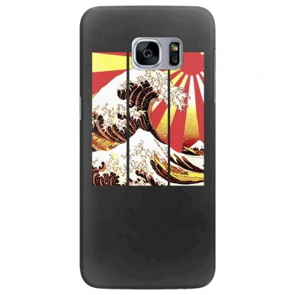 Surf In Japan (the Great Wave Off Kanagawa) Samsung Galaxy S7 Edge Case Designed By Aheupote
