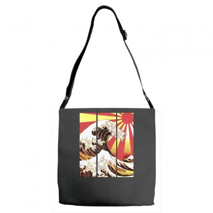 Surf In Japan (the Great Wave Off Kanagawa) Adjustable Strap Totes Designed By Aheupote