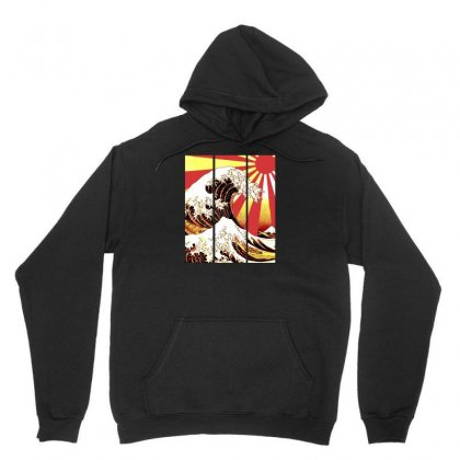 Surf In Japan (the Great Wave Off Kanagawa) Unisex Hoodie Designed By Aheupote