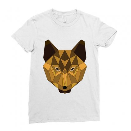 Golden Wolf Ladies Fitted T-shirt Designed By Jamalsalem79