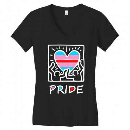 I Love The 80's Funny Retro Heart Women's V-neck T-shirt Designed By Aheupote