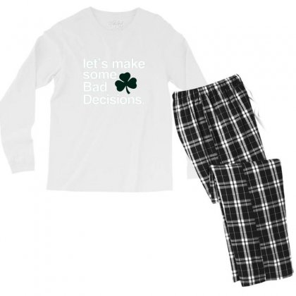 Lets Make Some Bad Decisions Men's Long Sleeve Pajama Set Designed By Disgus_thing