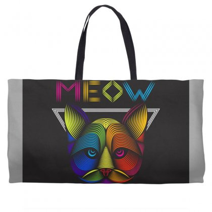 Meow Weekender Totes Designed By Arabi