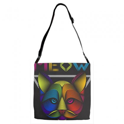 Meow Adjustable Strap Totes Designed By Arabi