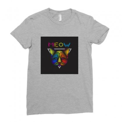Meow Ladies Fitted T-shirt Designed By Arabi