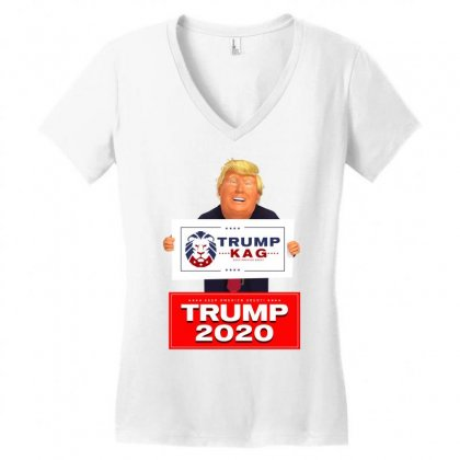 Trump Kag 2020 Women's V-neck T-shirt Designed By Tiococacola