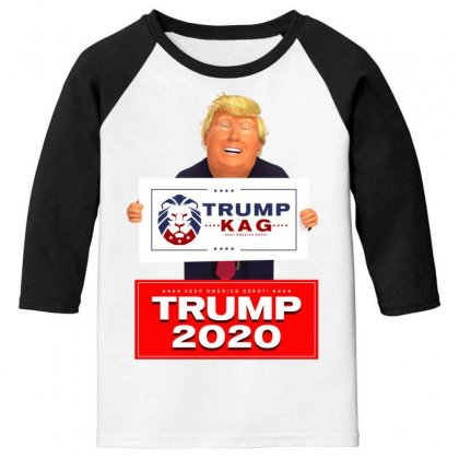 Trump Kag 2020 Youth 3/4 Sleeve Designed By Tiococacola