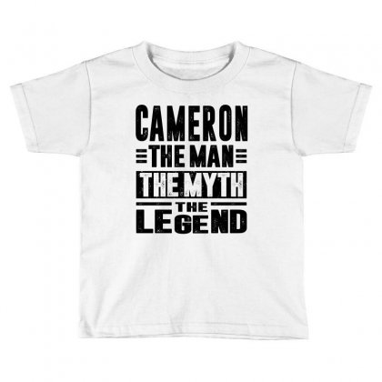 Cameron Toddler T-shirt Designed By Chris Ceconello