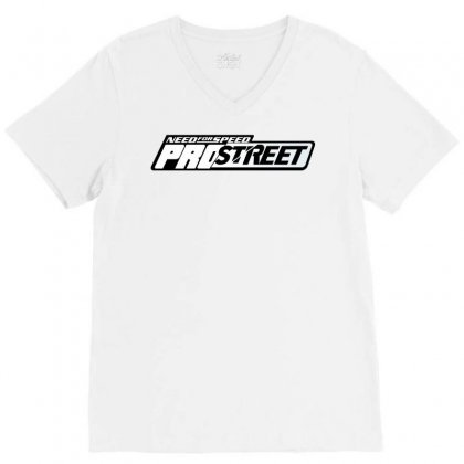 Need For Speed Pro Street License Plate V-neck Tee Designed By Tiococacola