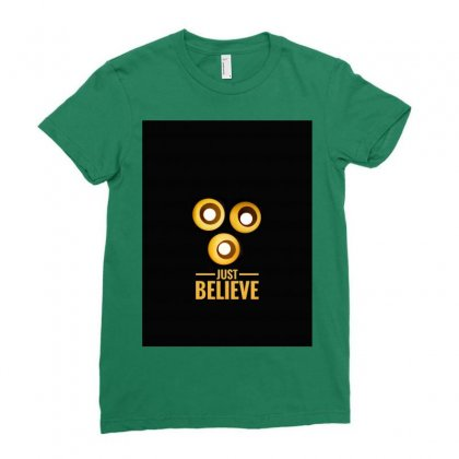Believer Ladies Fitted T-shirt Designed By Shekoz