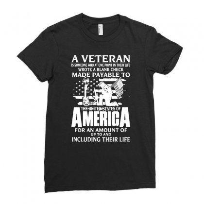 The Veteran Ladies Fitted T-shirt Designed By Mirazjason