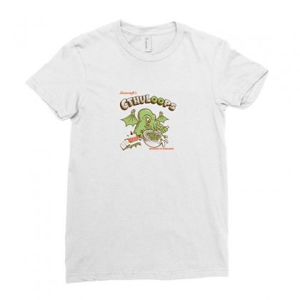 Cthuloops Logo Ladies Fitted T-shirt Designed By Tasha