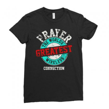 The Worlds Greatest Wireless Connection Ladies Fitted T-shirt Designed By Mirazjason