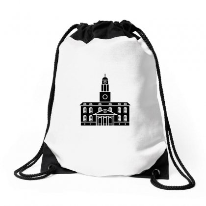 Black Tower University Drawstring Bags Designed By Peri