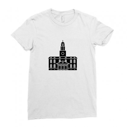 Black Tower University Ladies Fitted T-shirt Designed By Peri
