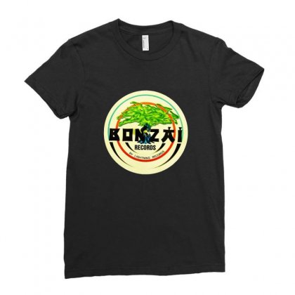 Bonzai Records Logo Ladies Fitted T-shirt Designed By Peri