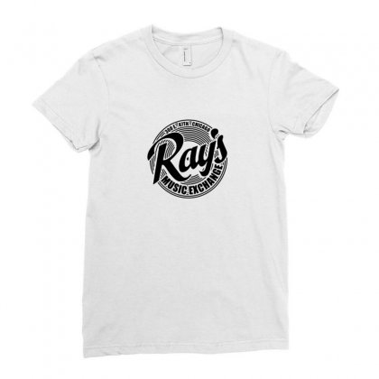 Ray's Music Exchange Ladies Fitted T-shirt Designed By Tasha