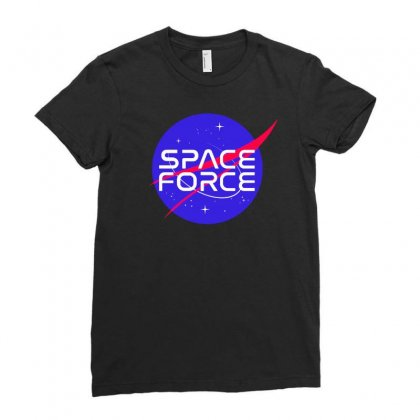 Space Force Ladies Fitted T-shirt Designed By Pinkanzee
