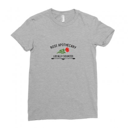 Rose Apothecary Logo Ladies Fitted T-shirt Designed By Tasha