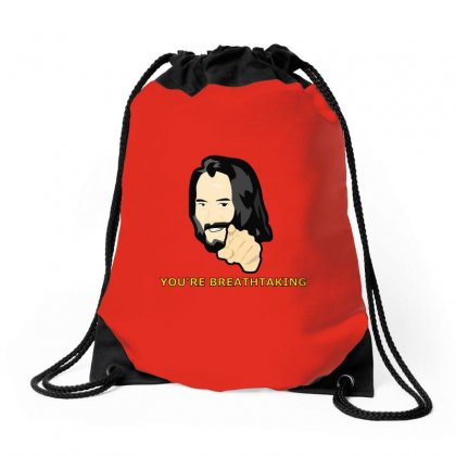 You Are Breathtaking Keanu Reeves Drawstring Bags Designed By Tasha