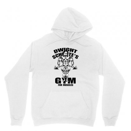 Dwight Schrute's Gym For Muscles Unisex Hoodie Designed By Pinkanzee