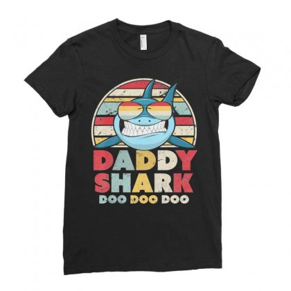 Daddy Shark T Shirt. Doo Doo Doo Tee. Ladies Fitted T-shirt Designed By Nhan