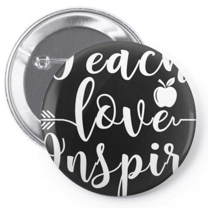 Teach Love Inspire Red For Ed T Shirt Teacher Supporter Pin-back Button Designed By Nhan