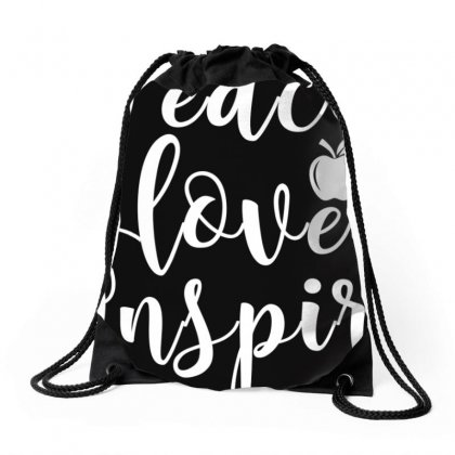 Teach Love Inspire Red For Ed T Shirt Teacher Supporter Drawstring Bags Designed By Nhan