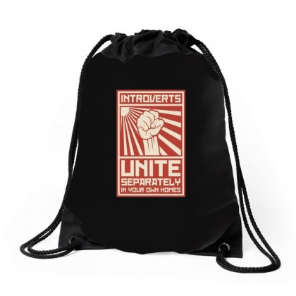Introverts Unite Drawstring Bags Designed By Peri