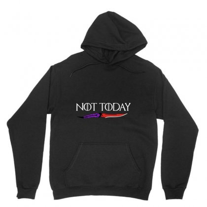 Not Today Unisex Hoodie Designed By Pinkanzee
