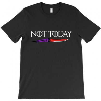 Not Today T-shirt Designed By Pinkanzee
