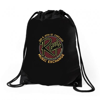 Ray's Music Exchange Drawstring Bags Designed By Peri