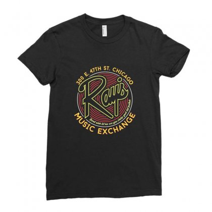 Ray's Music Exchange Ladies Fitted T-shirt Designed By Peri