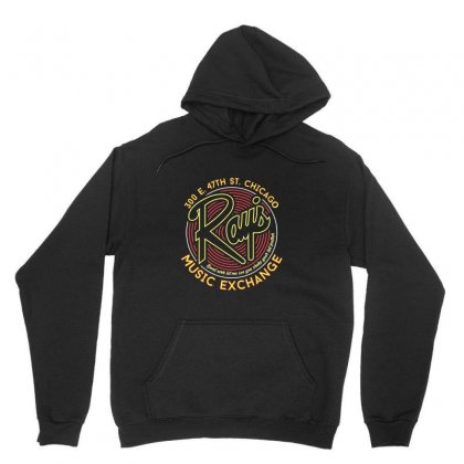 Ray's Music Exchange Unisex Hoodie Designed By Peri